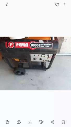 GRUPO ELECTROGENO NAFTERO FEMA 8000E