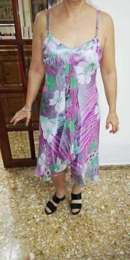 Vestido De Fiesta Floreado