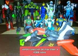 Vendo juguetes de max steels a 45$$