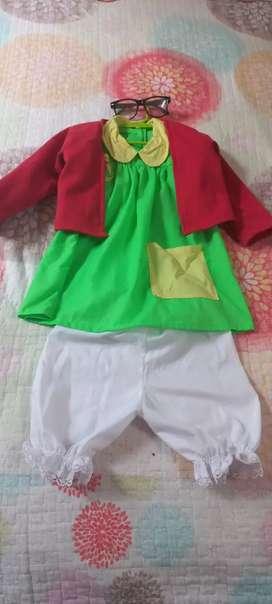 Disfraz de Chilindrina para niña de 2 años