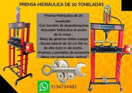 Prensa hidráulica de 20 toneladas