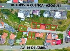 Terrenos en Venta Sector La Playa - Azogues. Cañar