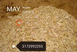 Venta de cascarilla de arroz en Bogotá