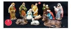 Pesebre Navidad x11 Medida:15 cm Marca: Santini