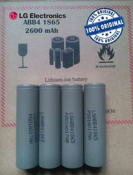 BATERIAS LITIO GENUINAS LG  2600 mAh 3.7v