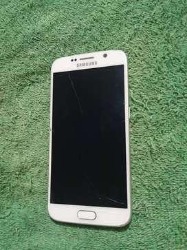 Samsung Galaxy s6 flat display dañado.