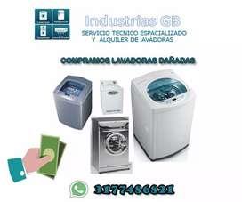 Alquiler de lavadoras y mantenimiento ; reparación l