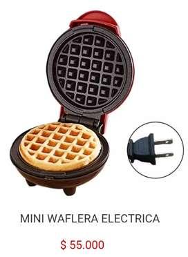 Mini waflera eléctrica personal individual plancha maquina para hacer wafles waffles panqueques pancakes