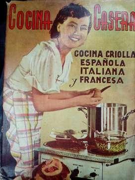 Libro de Cocina Antiguo Vintage 1942