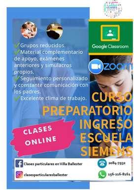 ESCUELA SIEMENS. INGRESO. CLASES ONLINE
