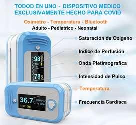 Oximetro de Pulso  con Temperatura