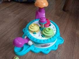 Máquina repostera y muffins playdoh para plastimasa