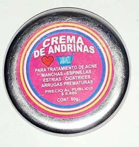 Crema de andrinas