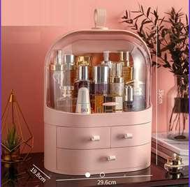 Neceser organizador de cosméticos y joyas rosado
