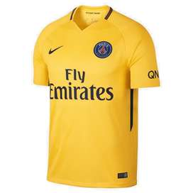 Camiseta del Paris Saint Germain (PSG) de Francia Suplente/Away 2017/18 Amarilla marca Nike Original