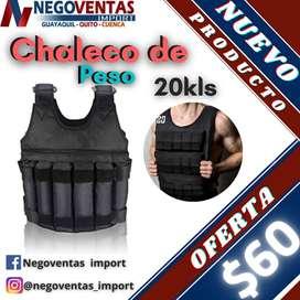 CHALECO CON PESO DE 20KL