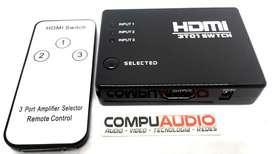 Swicth de HDMI conecta tres dispositivos HDMI a un entrada de tv HDMI)