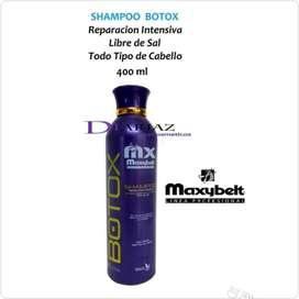 Shampoo botox Libre de sal • Maxibelt