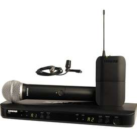 Micrófono Shure BLX1288/CVL-J10 Music Box Colombia Inalámbricos solapa