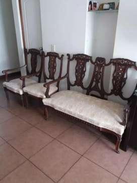 Juego de Sillones y sillas antiguo tipo luis v vintage europeo