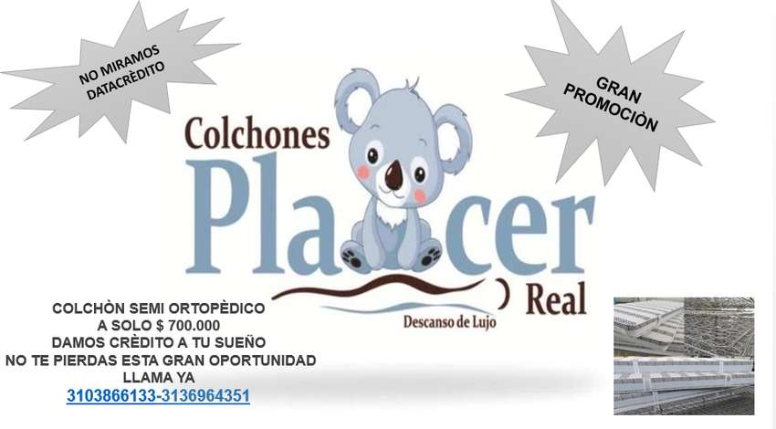 COLCHONES PLACER REAL 0