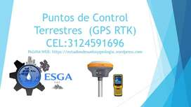 Puntos de Control Terrestres  (GPS RTK) y ORTOFOTOGRAFIA