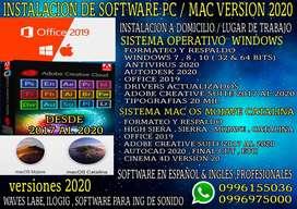 Instalación Software 2020