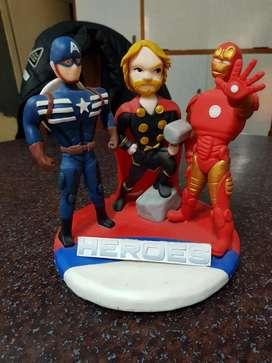 Superhéroes Adorno de Torta