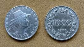 Moneda de 1000 coronas Austria 1924