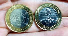 Moneda 2 pesos 2016 conmemorativa Independencia