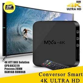Tv Box Mxq Pro 4k Android Smart Tv 1GB Ram 8GB Rom +Cable Hdmi