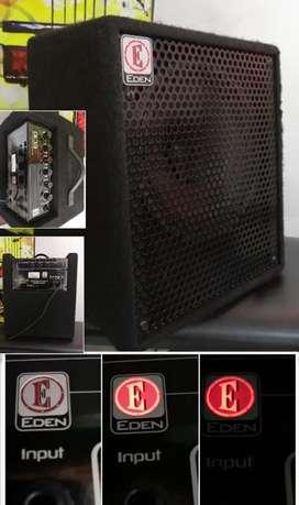 Amplificador para bajo by marshall Edén ec10 50 watts parlante de 10 planta hartke peavey fender crate vox