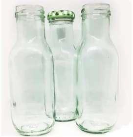 Botella Lechera de vidrio