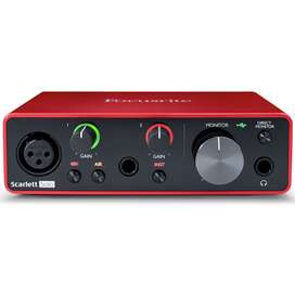Interfaz Focusrite Scarlett Solo 3G interface pro tools Music Box
