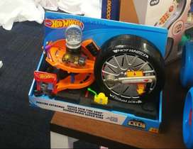 Pista Hot Wheels Super Spin Tire Shop Nueva