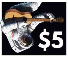 {PRECIO REAL} $5 La hora: Clases de guitarra en persona o por videollamada. Clases a Domicilio.