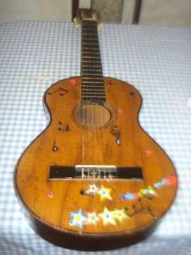Guitarra Criolla Antigua De Los 70s Sin Marca Funciona!!