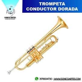 Trompeta Conductor Dorada M5210