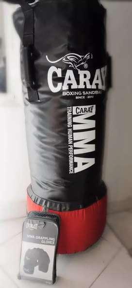 Bolsa de MMA con agarraderas + Guantes MMA
