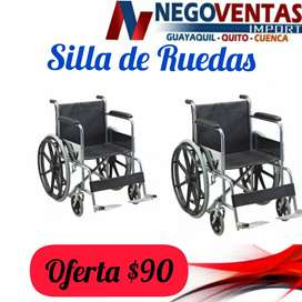 SILLA DE RUEDAS METALICO EN OFERTA UNICA DE NEGOVENTAS