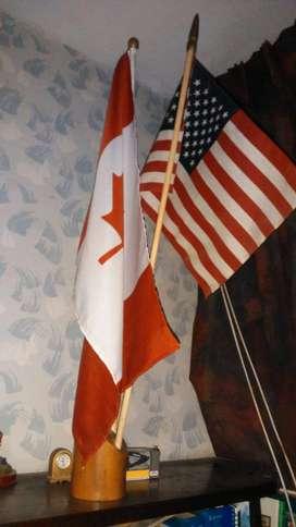 BANDERA DE USA y CANADA