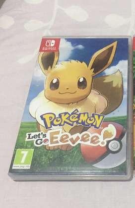 Se vende juego pokemon lets go eevee para switch