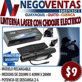 LINTERNA LASER CON CHOQUE ELECTRICO EN DESCUENTO EXCLUSIVO DE NEGOVENTAS