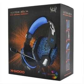 DIADEMA GAMER KOTION G1000 CON MICROFONO USB Y LED