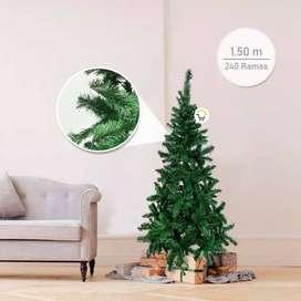 árbol Navidad Pomposo envío gratis Tupido 150 cm 240 Ramas Fexton150 pago contra entrega.