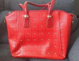 Bolso Rojo con Zircones