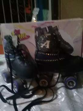 patines soy luna negros talle 32