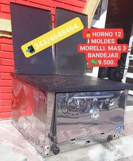 HORNO PIZZERO DOCE MOLDES MORELLI CON CUATRO BANDEJAS!!!