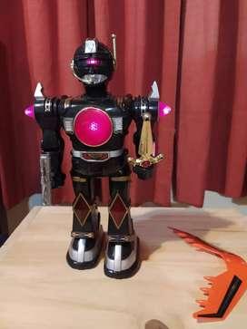 Robots Power Ranger coleccionable vintage funcionando