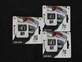 Memorias micro sd de 32gb, 64gb y 128gb marca kingston originales.!